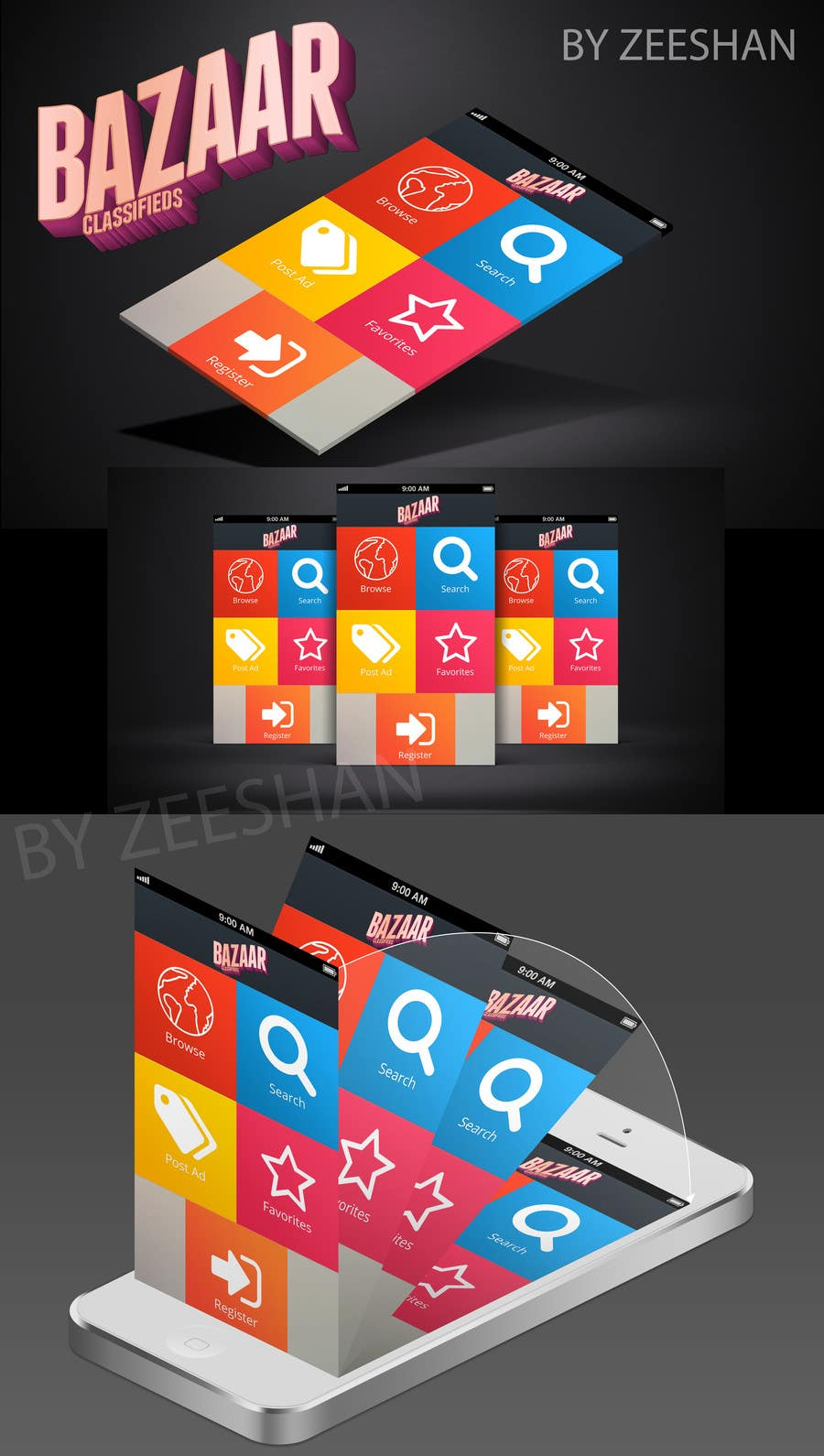 #29 for Design front page for Classifieds Mobile app by Zeshu2011