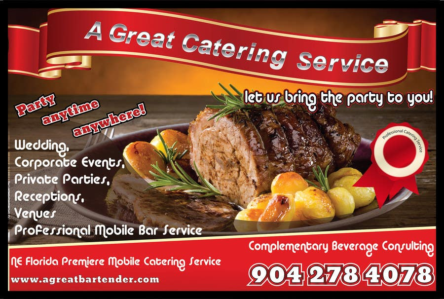 entry 85 by maygan for design a flyer for catering and a bartending