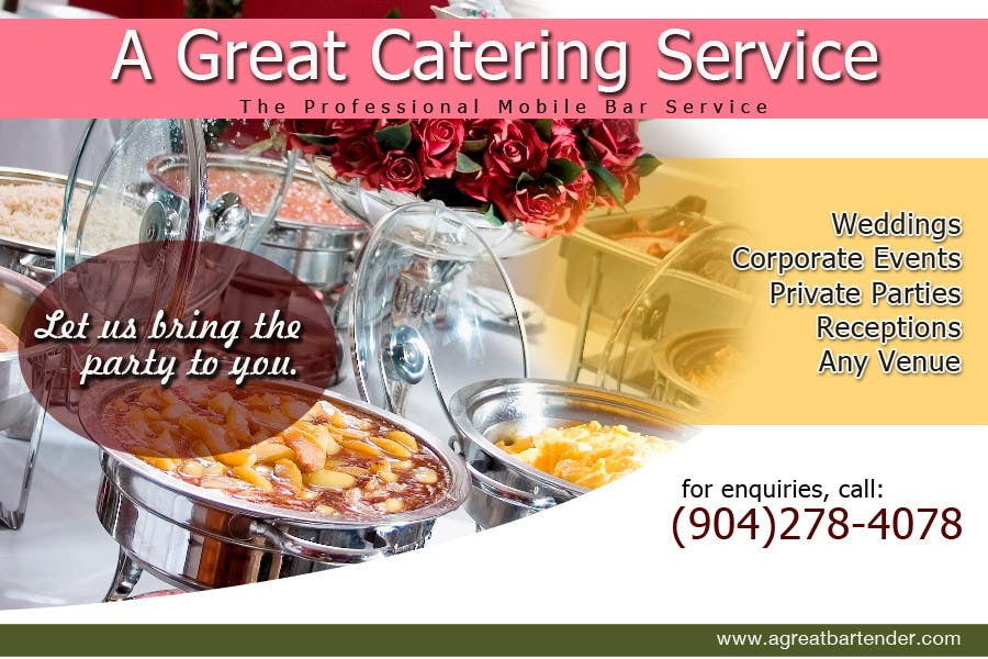 #72 for Design a Flyer for Catering and a Bartending Business - Future Work Needed Also by arteastik