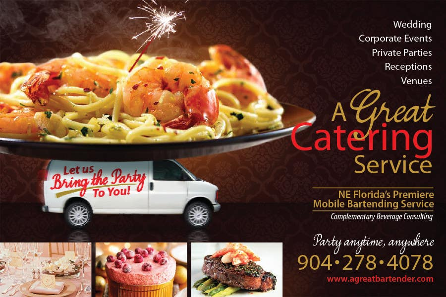 #44 for Design a Flyer for Catering and a Bartending Business - Future Work Needed Also by r063rabad