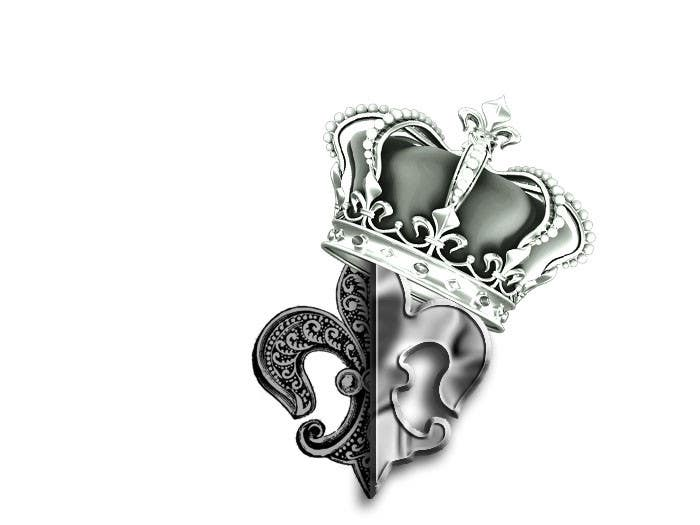 creative shoulder tattoo design of fleur de lis with crown freelancer. Black Bedroom Furniture Sets. Home Design Ideas