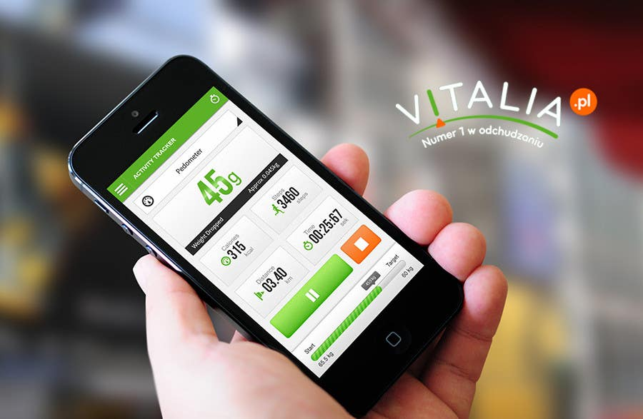 "#120 for Design for mobile app ""Vitalia tracker"" (design only) by JustLogoz"