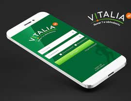 "#121 para Design for mobile app ""Vitalia tracker"" (design only) por JustLogoz"