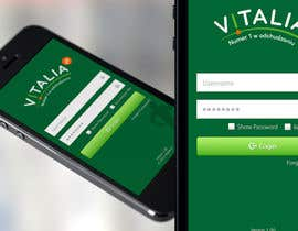 "#152 para Design for mobile app ""Vitalia tracker"" (design only) por JustLogoz"