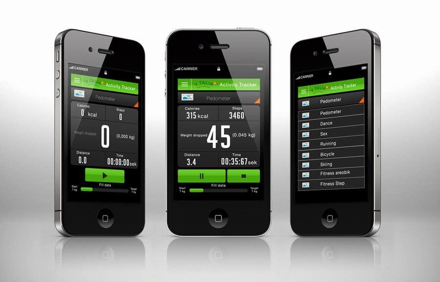 "#102 for Design for mobile app ""Vitalia tracker"" (design only) by desi9ntrends"