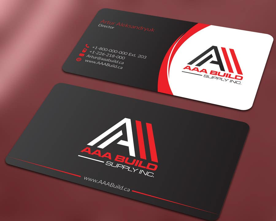 Entry #51 by ALLHAJJ17 for Design Business Card For AAA Build Supply ...