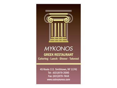 Graphic Design Contest Entry #22 for Design some Business Cards for Mykonos Greek Restaurant