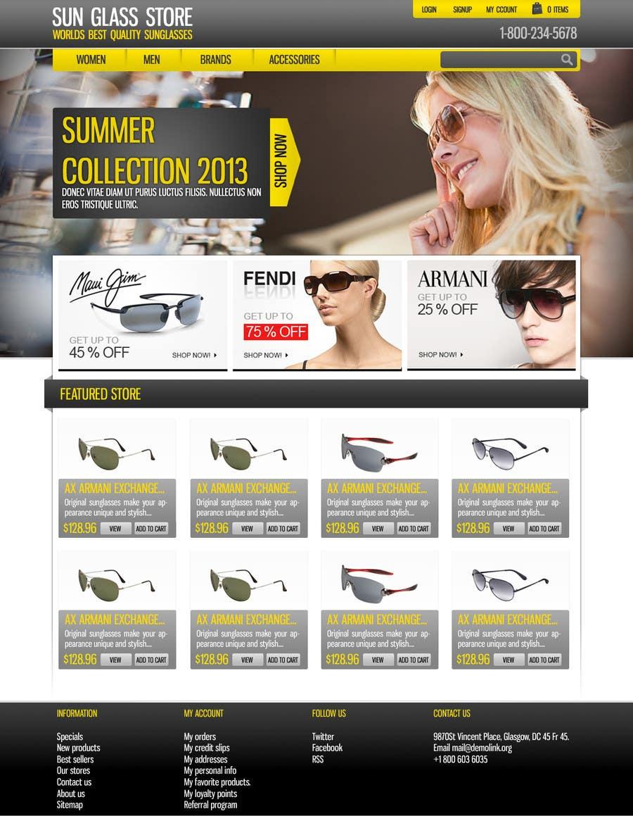 Kilpailutyö #8 kilpailussa Design a Website Mockup for Eyeglass website