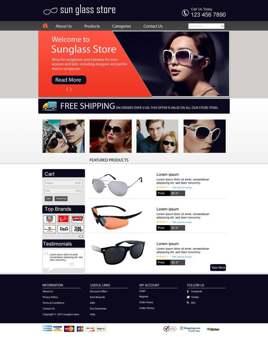 Kilpailutyö #6 kilpailussa Design a Website Mockup for Eyeglass website