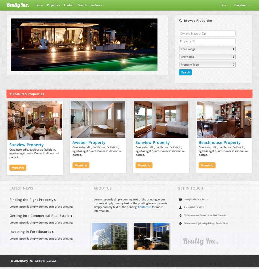 Bài tham dự cuộc thi #7 cho Design a Website Mockup for Property Site