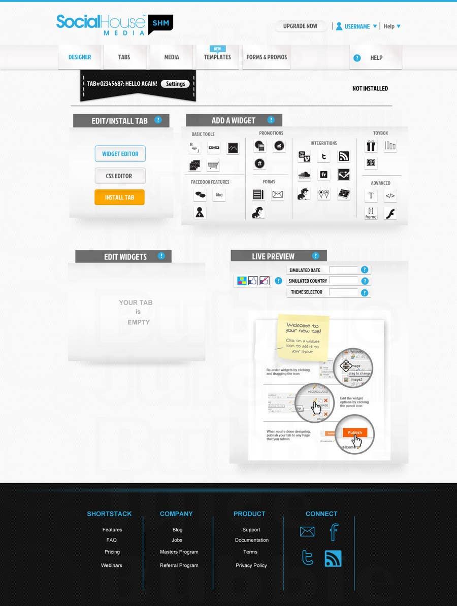 Proposition n°15 du concours Website Design for Social House Media: Widget Page