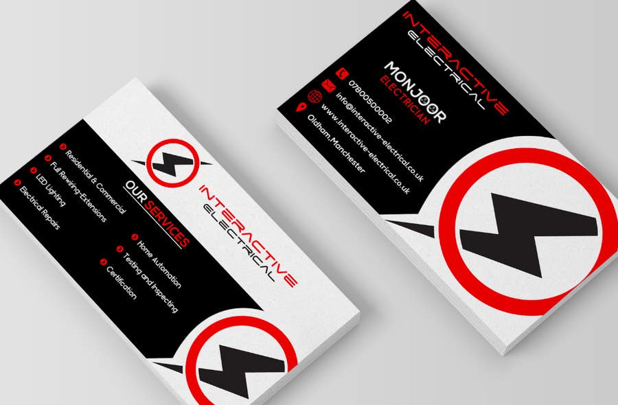 electrical business cards - Template