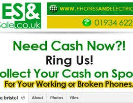 #56 untuk Design a Banner for Phonesandelectricalsforsale.co.uk oleh OnpointJamie