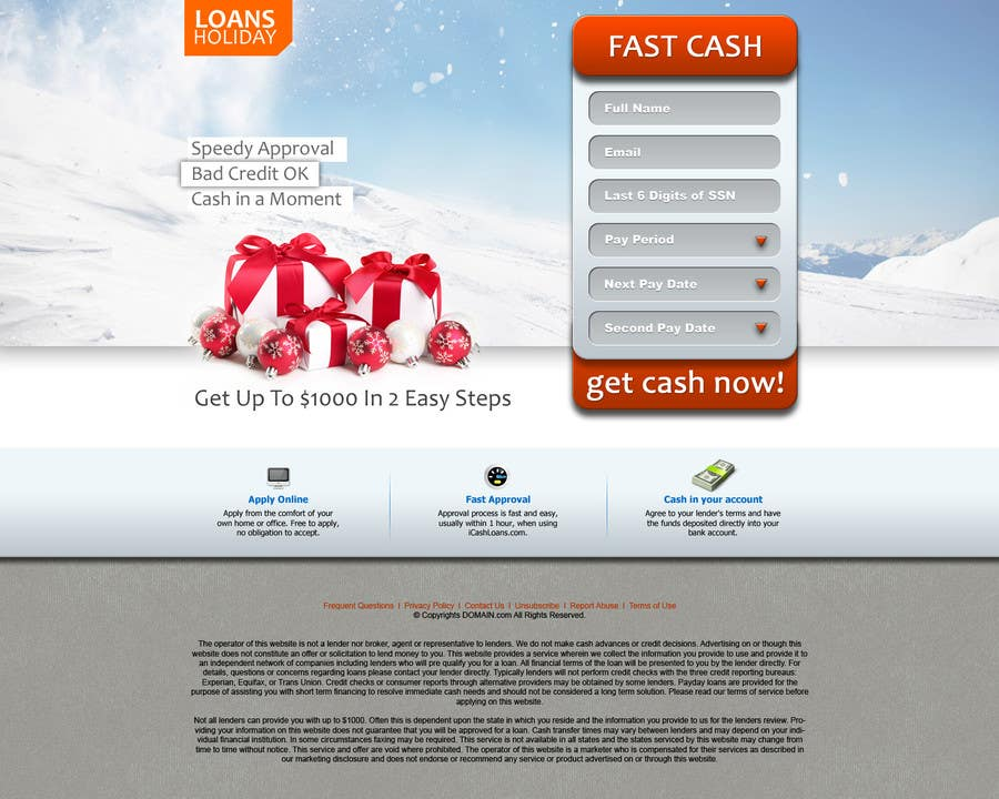 #40 for Design Landing Page #1 Shopping Product In 2013 Shopping Season In USA... Can you design better than Santa Claus? by ANALYSTEYE