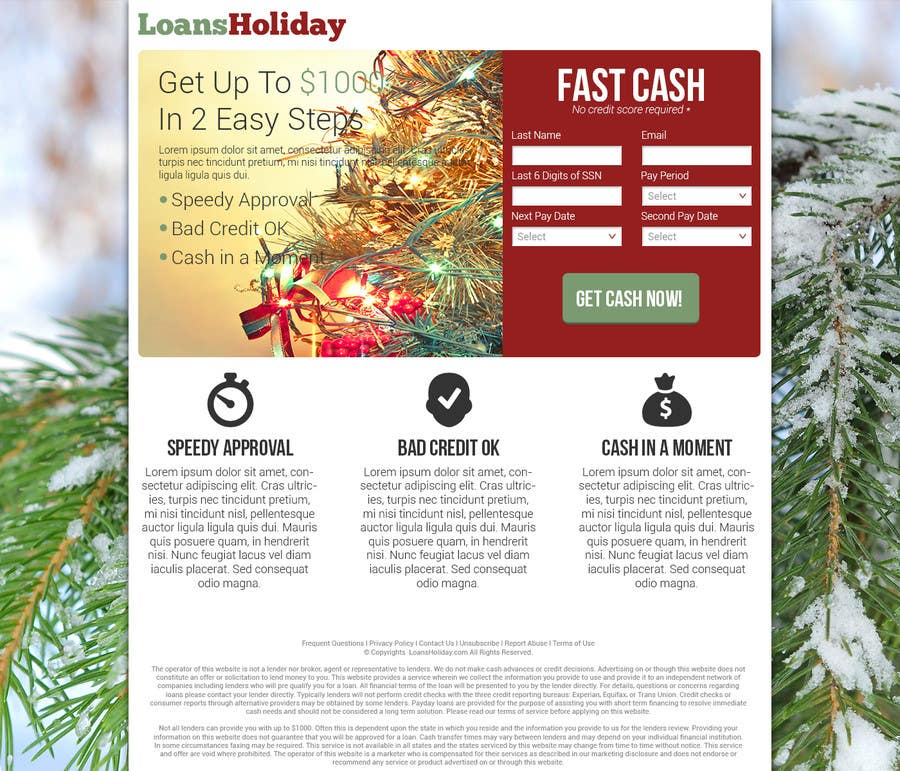 #15 for Design Landing Page #1 Shopping Product In 2013 Shopping Season In USA... Can you design better than Santa Claus? by nelsonc99