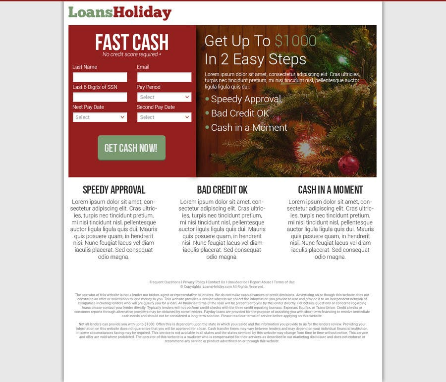 #53 for Design Landing Page #1 Shopping Product In 2013 Shopping Season In USA... Can you design better than Santa Claus? by nelsonc99