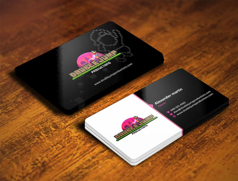 Entry #18 by ezesol for Media company business card design - Retro ...