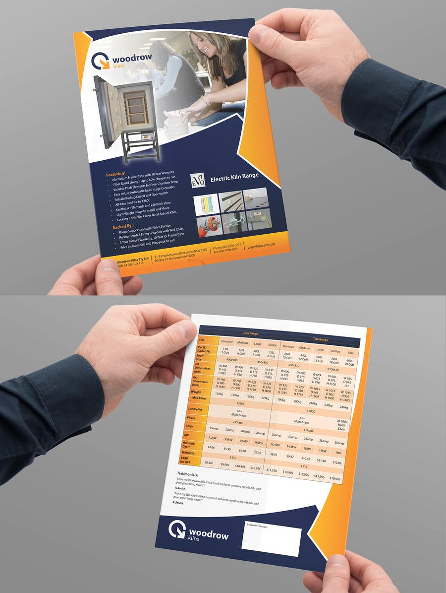 #21 for Design 2 Brochure /  Flyers based on our new theme. 2 Side A4 & Trifold A4 by Brandwar