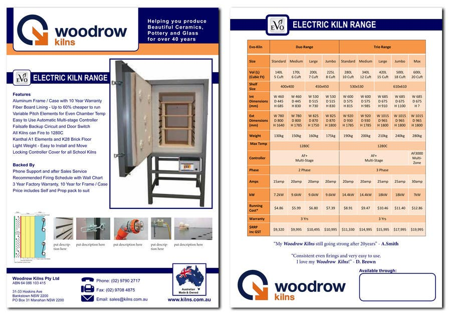 #4 for Design 2 Brochure /  Flyers based on our new theme. 2 Side A4 & Trifold A4 by mcabalda