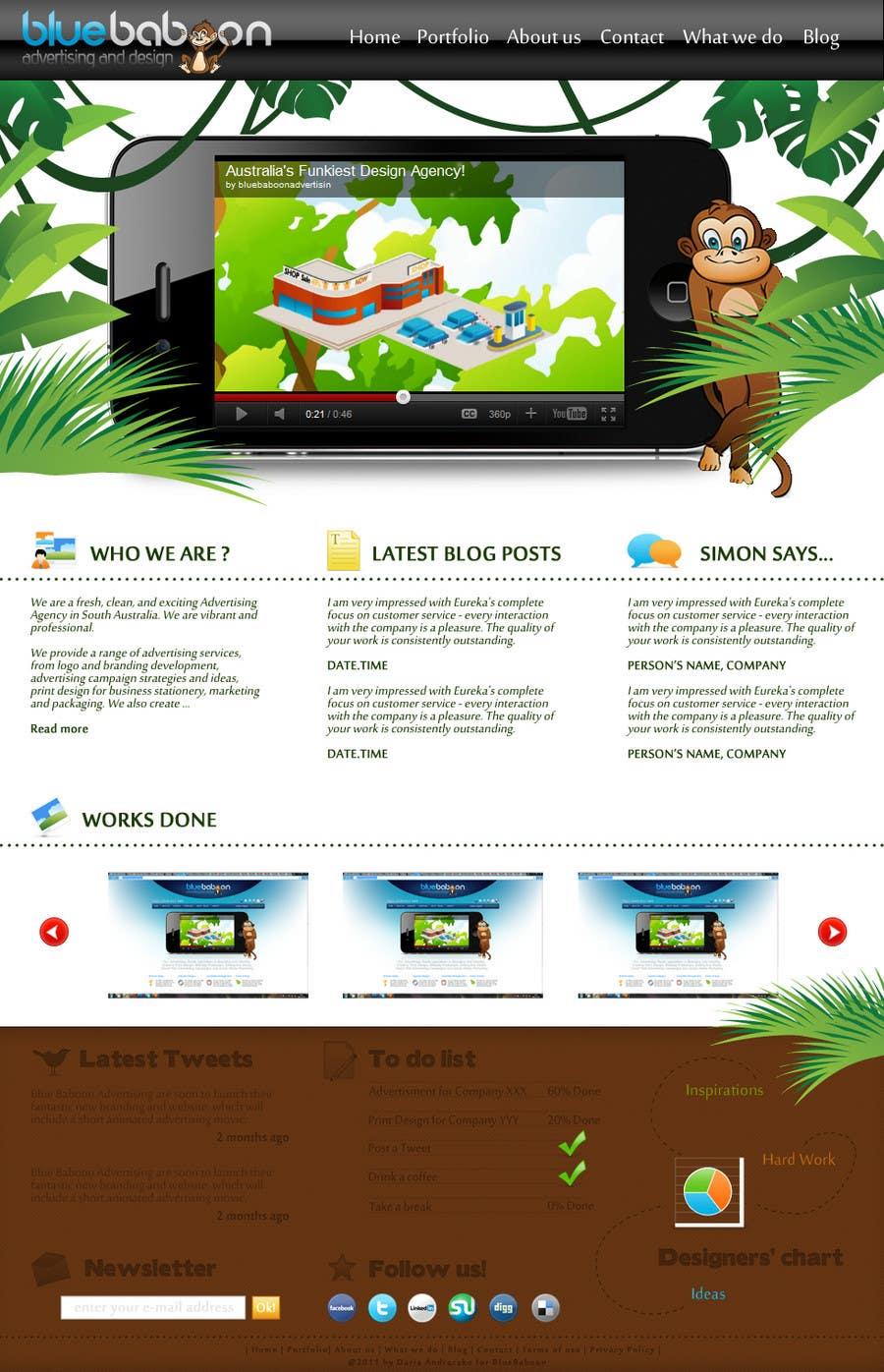Inscrição nº                                         13                                      do Concurso para                                         Wordpress Theme Design for Blue Baboon Advertising