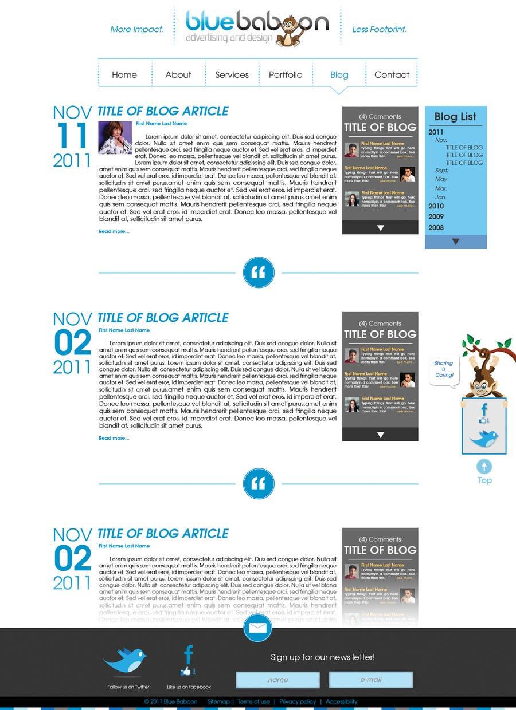 Inscrição nº                                         44                                      do Concurso para                                         Wordpress Theme Design for Blue Baboon Advertising