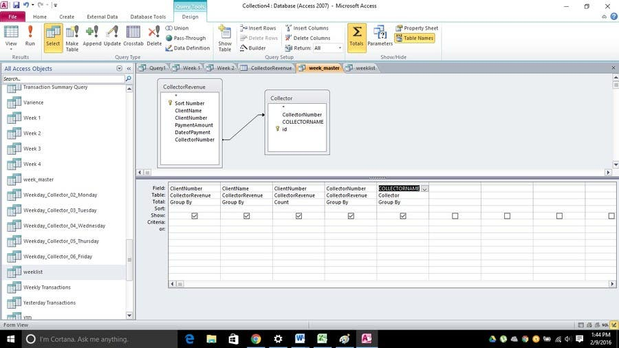 Entry #4 by mattkhalliday for A Microsoft Access problem