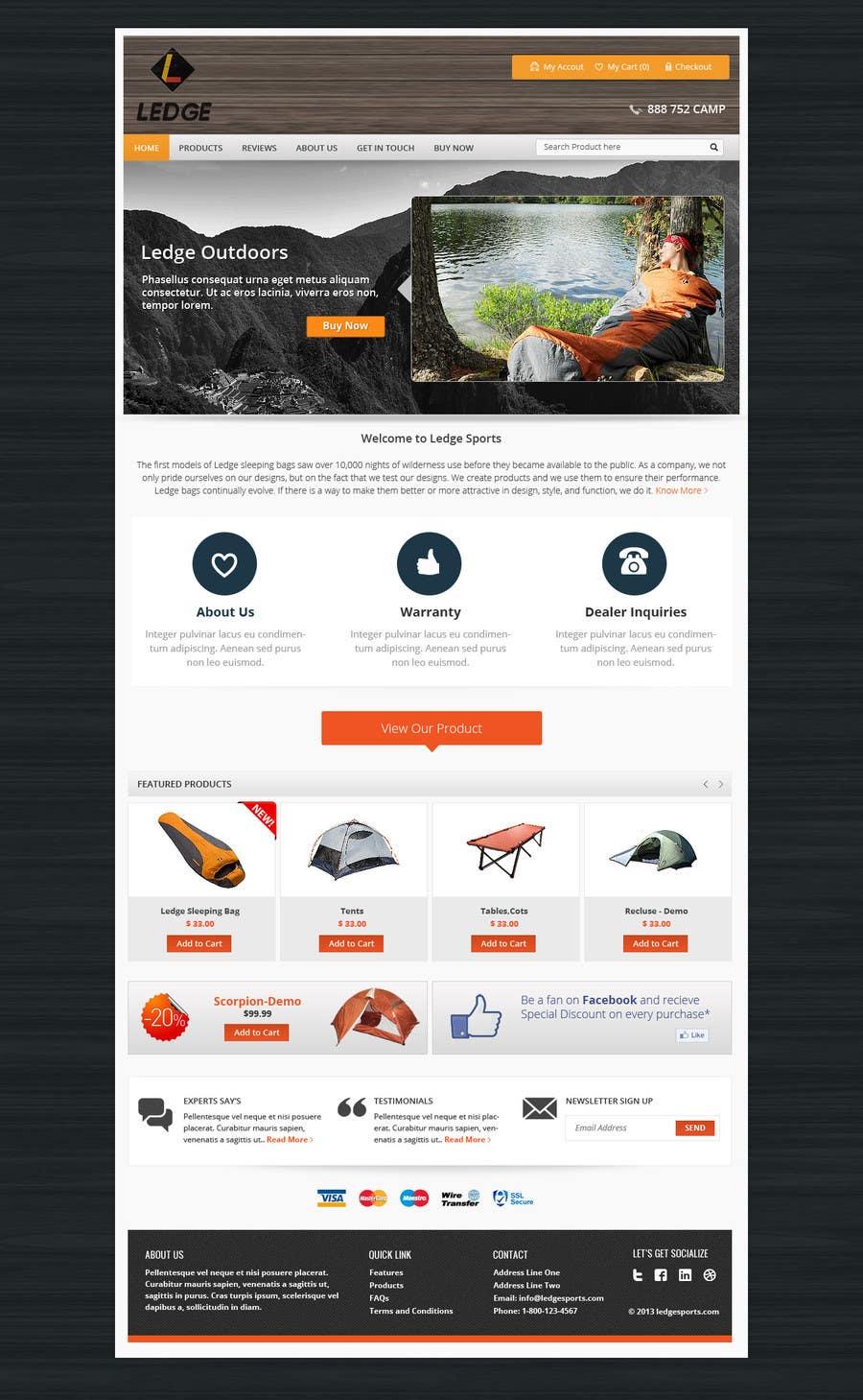 Konkurrenceindlæg #13 for Design a Website Mockup for Ledge Sports