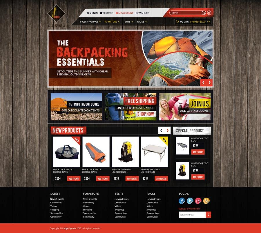Konkurrenceindlæg #11 for Design a Website Mockup for Ledge Sports