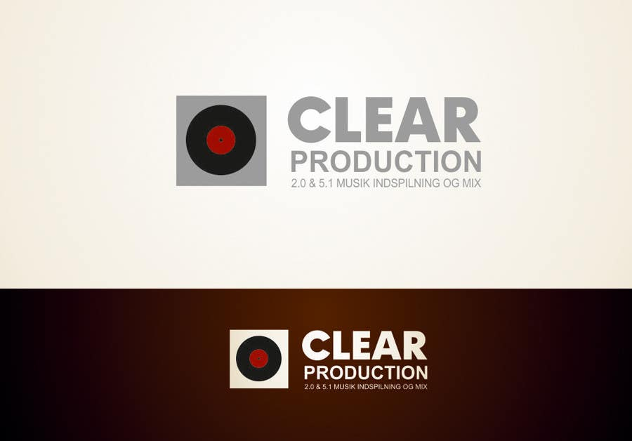 """Contest Entry #                                        793                                      for                                         Logo Design for """"CLEAR PRODUCTION"""" - Recording a mixing studio in Copenhagen"""