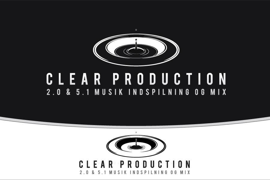 """Contest Entry #                                        872                                      for                                         Logo Design for """"CLEAR PRODUCTION"""" - Recording a mixing studio in Copenhagen"""