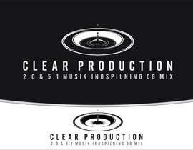 "#872 for Logo Design for ""CLEAR PRODUCTION"" - Recording a mixing studio in Copenhagen af marcoartdesign"