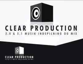 "#1102 untuk Logo Design for ""CLEAR PRODUCTION"" - Recording a mixing studio in Copenhagen oleh marcoartdesign"