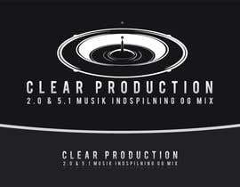 "#870 for Logo Design for ""CLEAR PRODUCTION"" - Recording a mixing studio in Copenhagen af marcoartdesign"