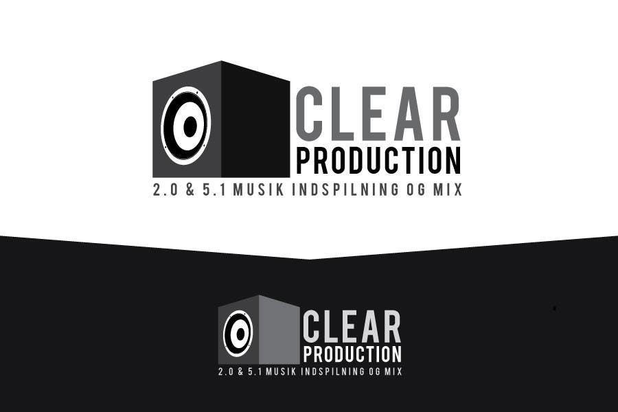 "Proposition n°                                        1113                                      du concours                                         Logo Design for ""CLEAR PRODUCTION"" - Recording a mixing studio in Copenhagen"