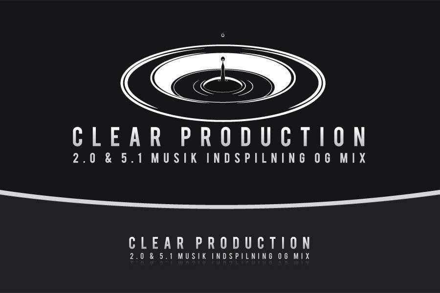 "Proposition n°                                        871                                      du concours                                         Logo Design for ""CLEAR PRODUCTION"" - Recording a mixing studio in Copenhagen"