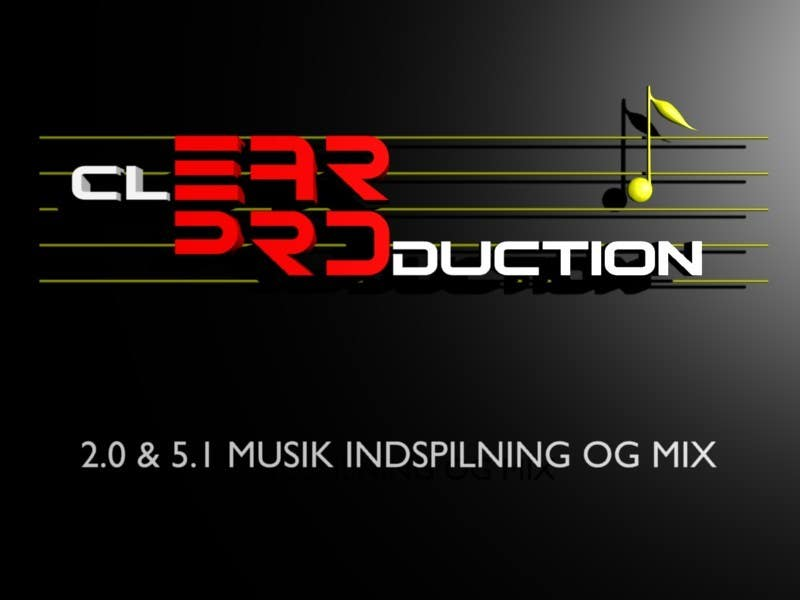 """Contest Entry #                                        229                                      for                                         Logo Design for """"CLEAR PRODUCTION"""" - Recording a mixing studio in Copenhagen"""