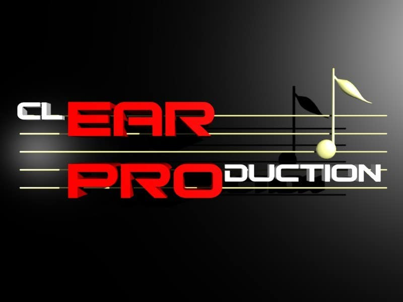 """Contest Entry #                                        136                                      for                                         Logo Design for """"CLEAR PRODUCTION"""" - Recording a mixing studio in Copenhagen"""