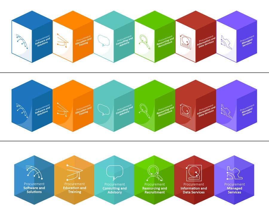 Penyertaan Peraduan #104 untuk Design Six Icons for Directory Website