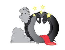 #30 para Car Tire Character por ravinsharma