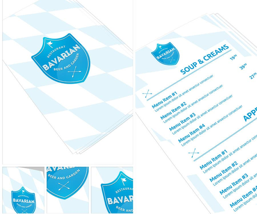#7 for Design a Menu and Business Card for a Bavarian Restaurant and Beer Garden by ibib