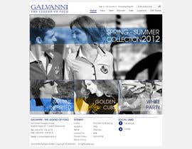 #23 para Website Design for Galvanni de yesterdie
