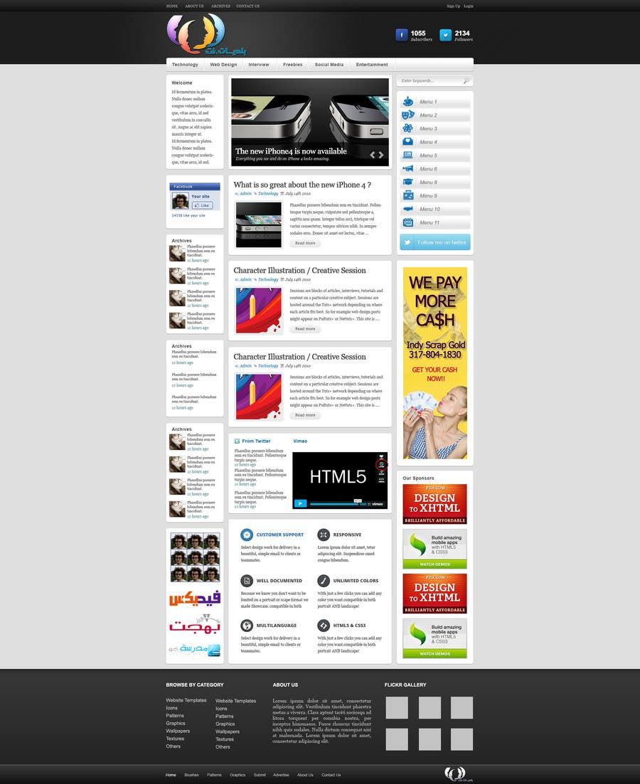 #2 for Design a Website Mockup for an articles website by designBox16