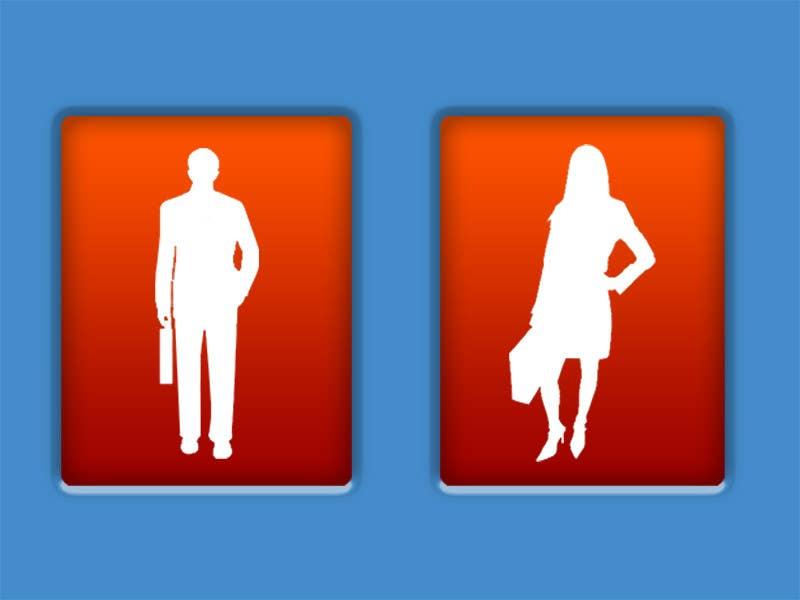 Penyertaan Peraduan #43 untuk Design some contemporary male and female Icons