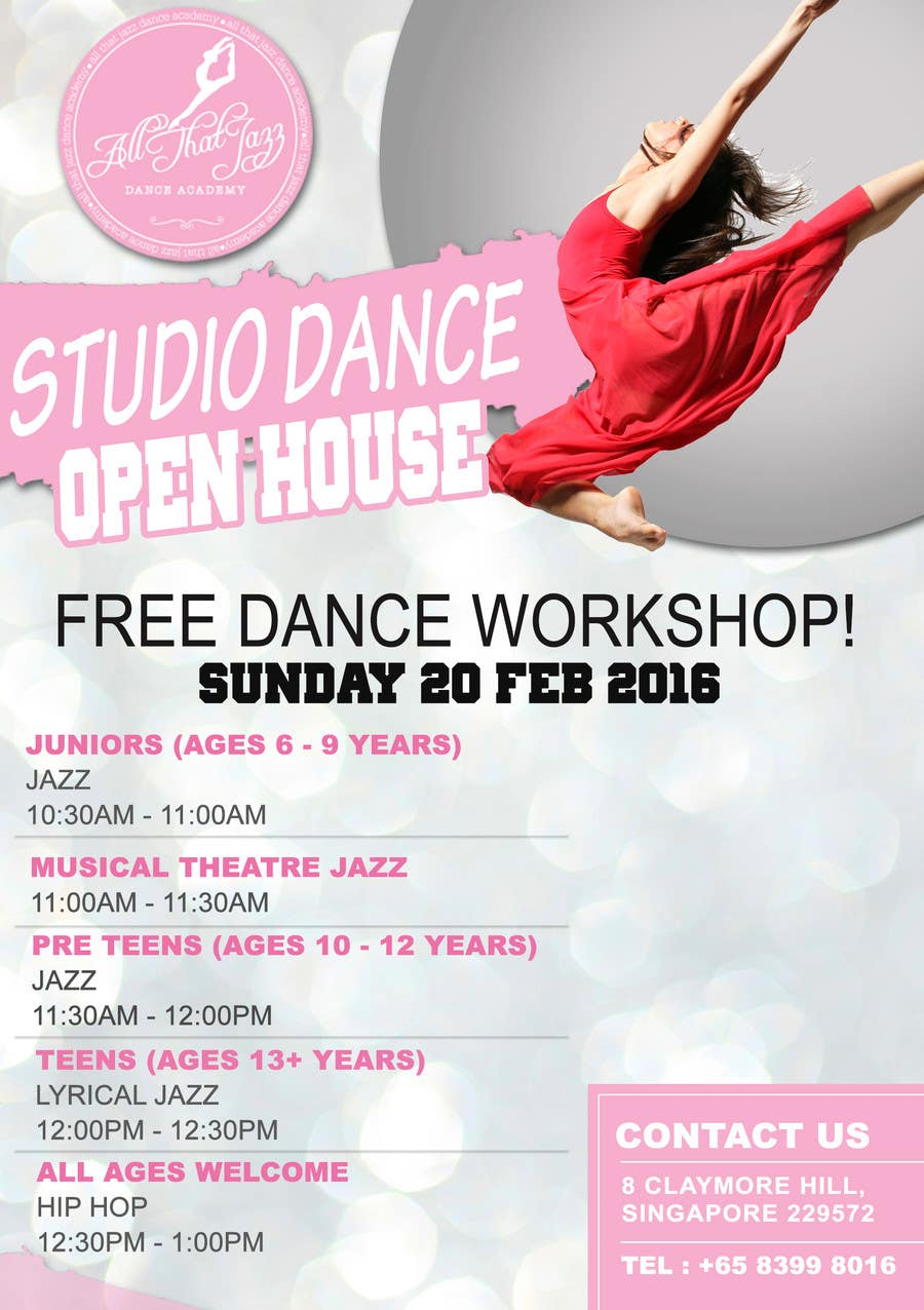 Entry #13 by adidoank123 for Open House Flyer for Dance Studio ...
