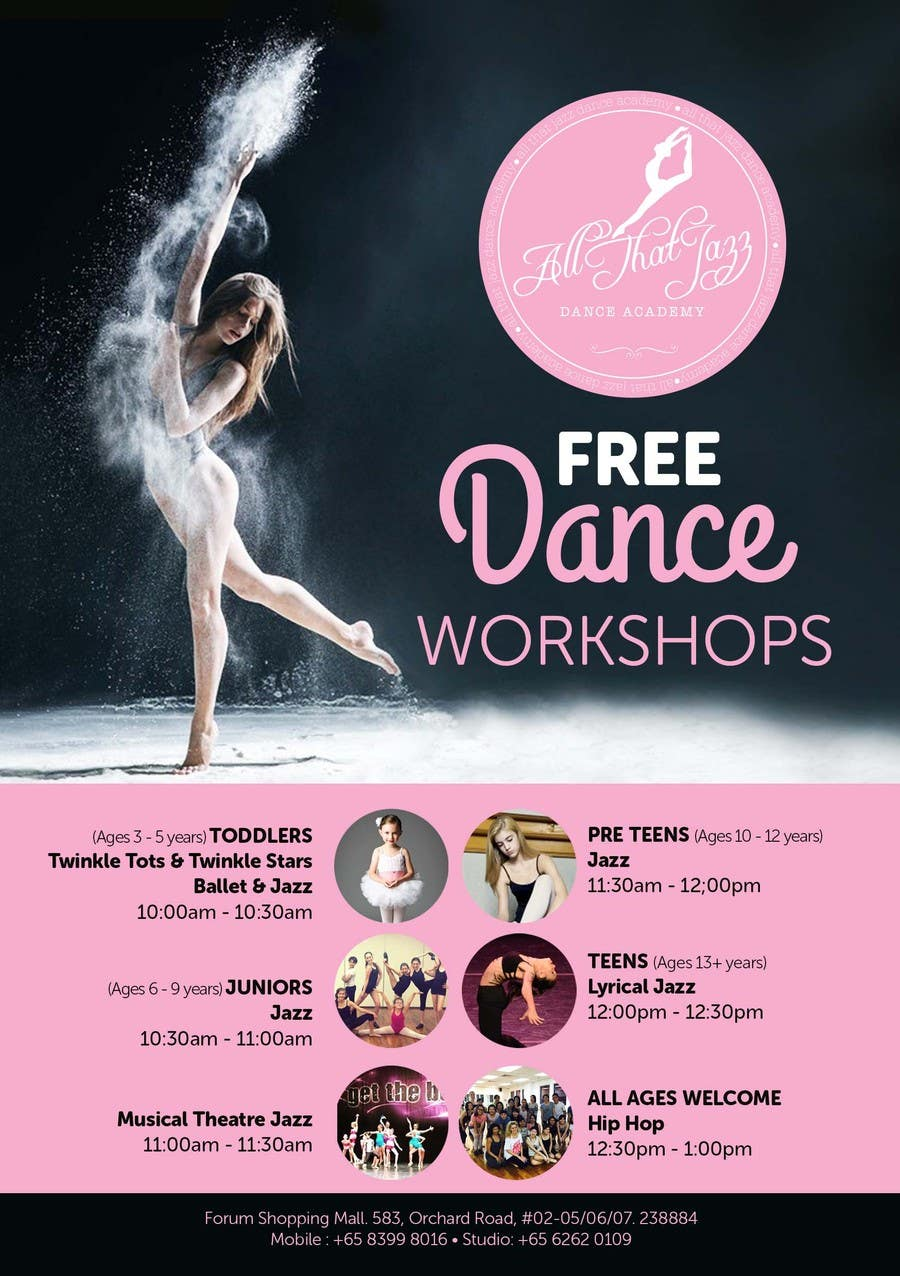 Entry #83 by tatisan for Open House Flyer for Dance Studio ...