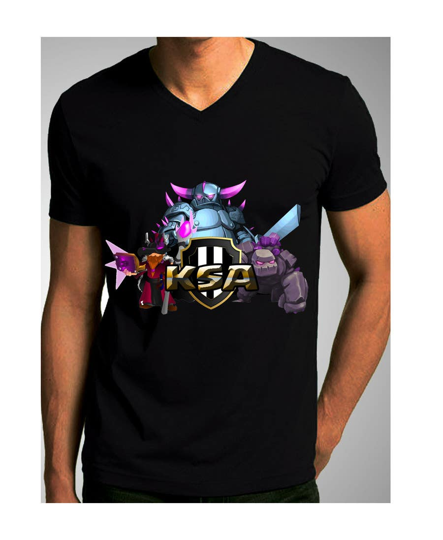 Design a logo and a simple t shirt print for a coc clan for Logo t shirt printing