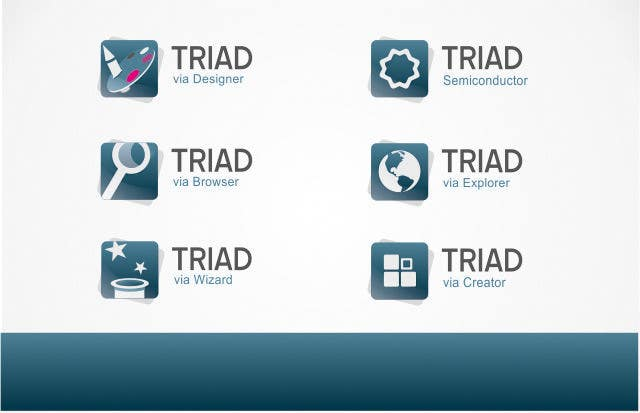 Kilpailutyö #393 kilpailussa Logo Design for Triad Semiconductor