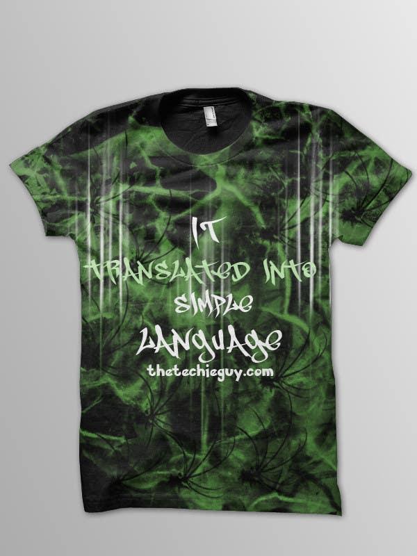 Конкурсная заявка №                                        17                                      для                                         T-shirt Design for TheTechieGuy.com