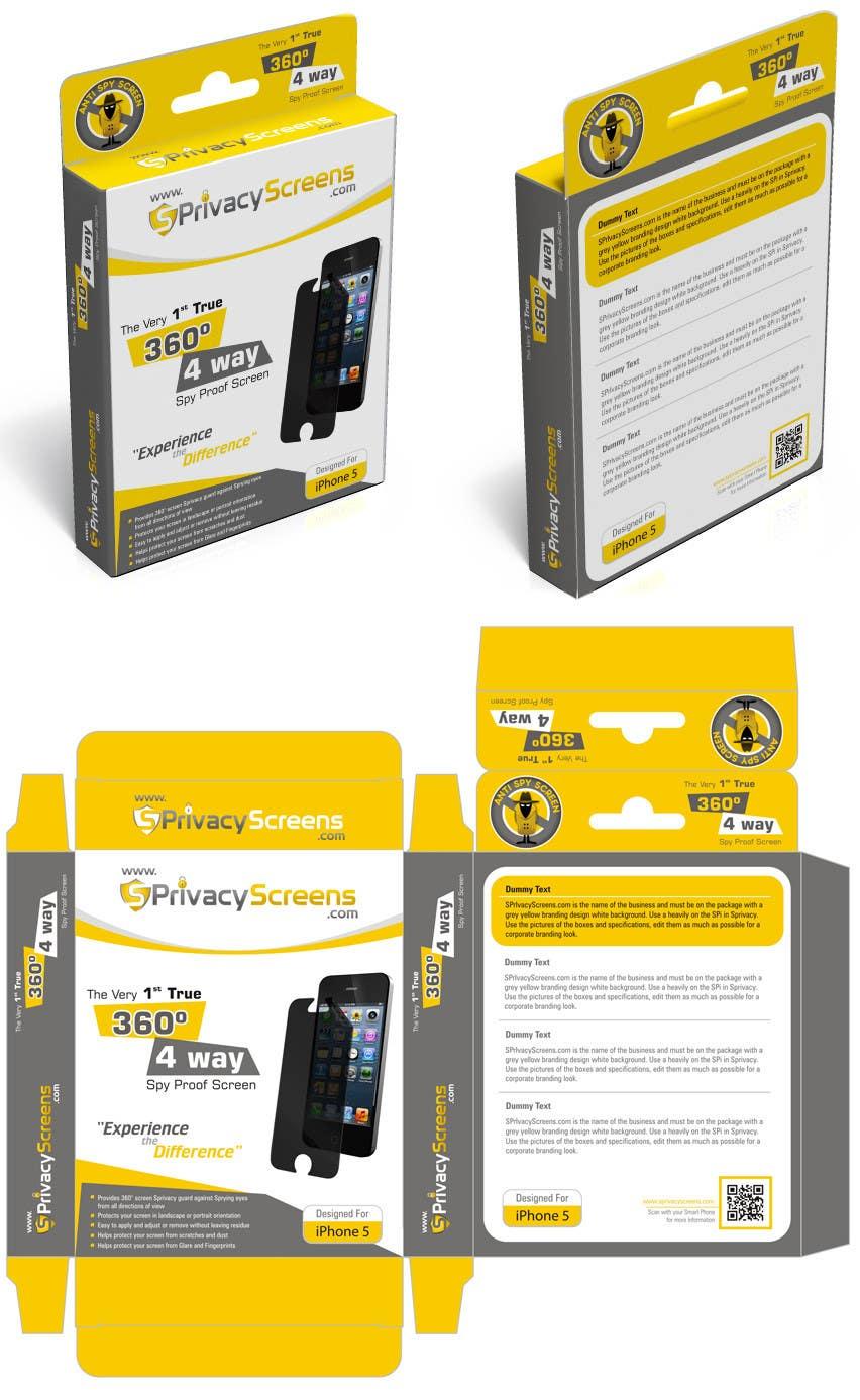 #7 for Corporate Branding Retail Box Design for www.SPrivacyscreens.com by suneshthakkar