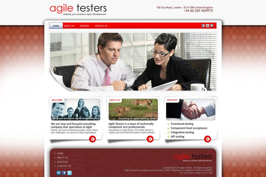Inscrição nº 35 do Concurso para Redesign our company website